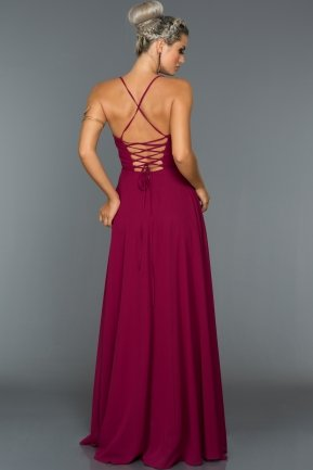 Long Plum Evening Dress ABU070