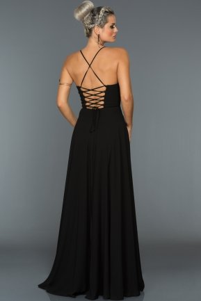 Long Black Evening Dress ABU070
