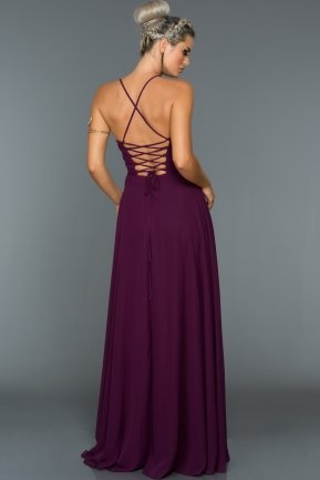Long Violet Evening Dress ABU070