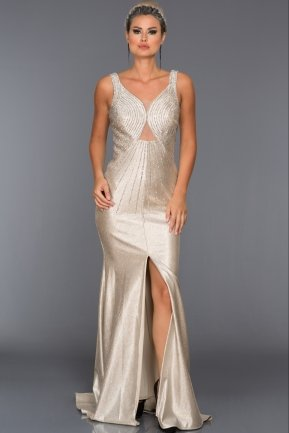 Long Mink Evening Dress F7235