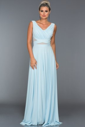 Long Light Blue Evening Dress AB2469