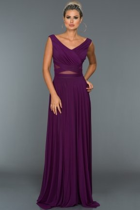 Long Purple Evening Dress ABU004