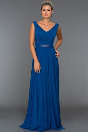 Long Sax Blue Evening Dress ABU004
