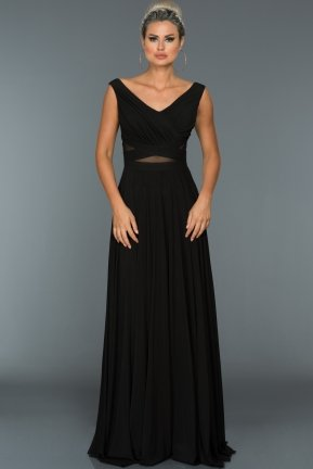 Long Black Evening Dress ABU004