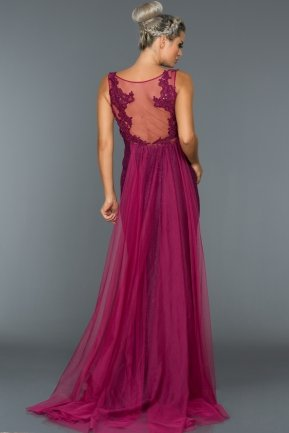 Long Plum Evening Dress AN2463