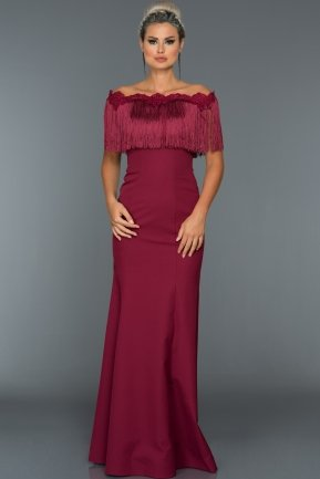 Long Plum Evening Dress ABU010