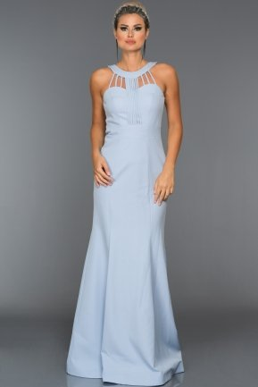 Long Light Blue Evening Dress ABU006