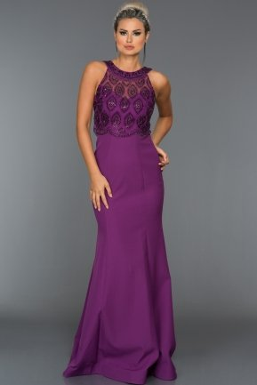 Long Purple Evening Dress ABU126