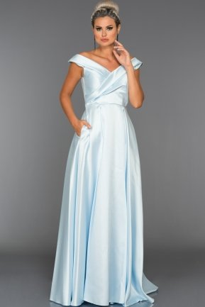 Long Light Blue Evening Dress ABU003