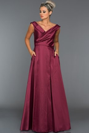 Long Plum Evening Dress ABU003