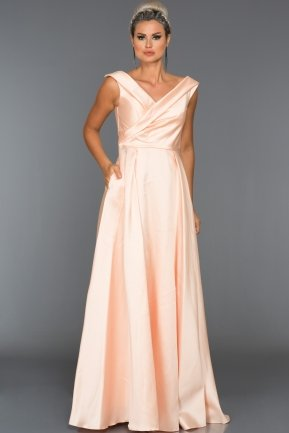 Long Powder Color Evening Dress ABU003