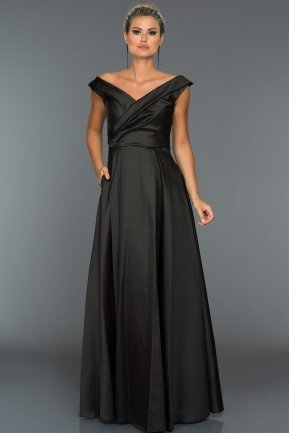 Long Black Evening Dress ABU003