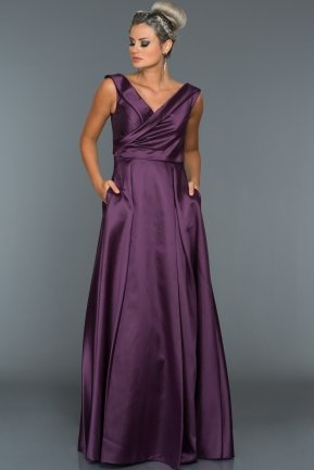 Long Violet Evening Dress ABU003