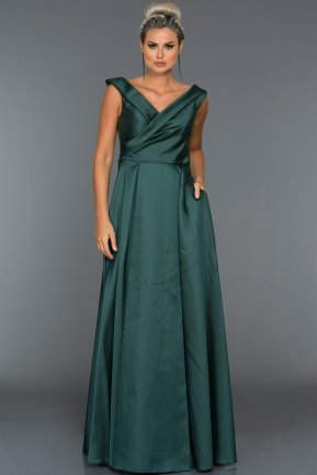 Long Emerald Green Evening Dress C7312