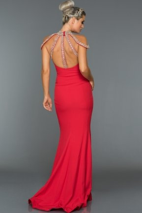 Long Red Evening Dress F278