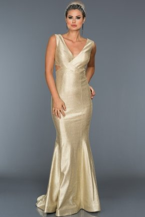 Long Gold Evening Dress ABU270