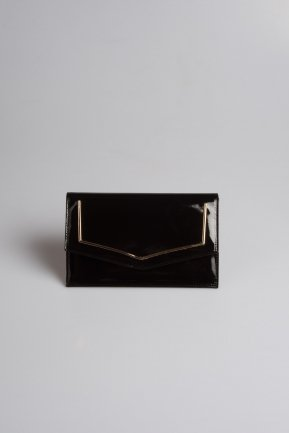 Black Patent Leather Evening Bag V460