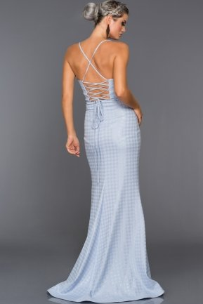 Long Light Blue Evening Dress ABU007