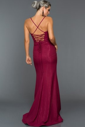 Long Plum Evening Dress C7317