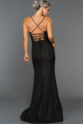 Long Black Evening Dress ABU007