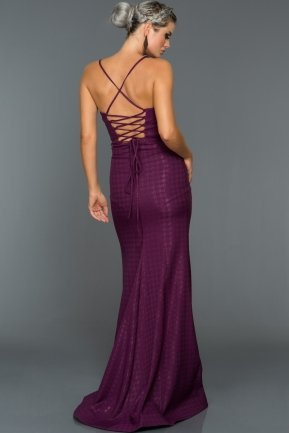 Long Violet Evening Dress ABU007