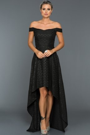 Long Black Evening Dress ABO001