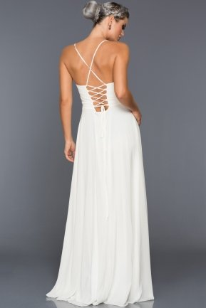 Long White Evening Dress AB7333