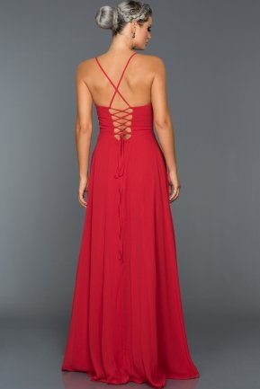 Long Red Evening Dress ABU070