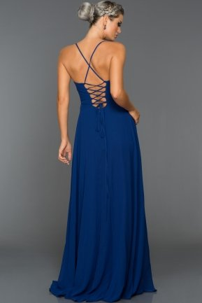 Long Sax Blue Evening Dress ABU070