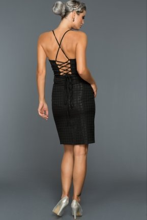 Short Black Evening Dress C8104
