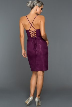 Short Violet Evening Dress ABK021