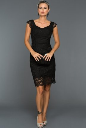 Short Black Evening Dress ABK010