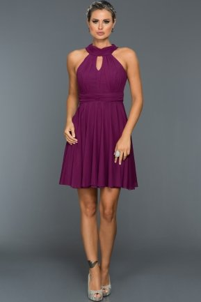 Short Purple Evening Dress ABK224