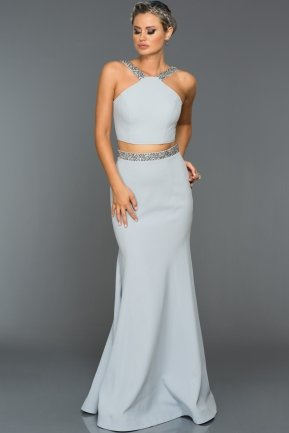 Long Grey Evening Dress ABU015