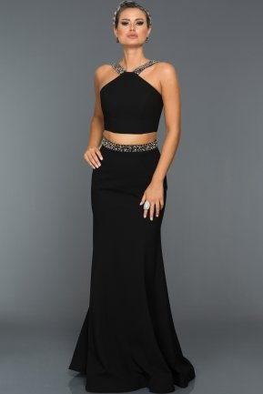 Long Black Evening Dress GG6931