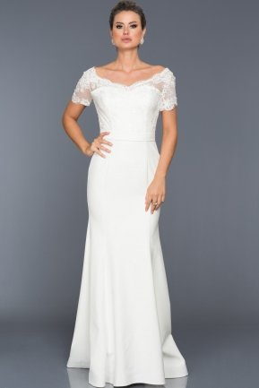 Long White Evening Dress AN2492