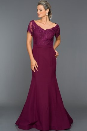 Long Plum Evening Dress AN2492
