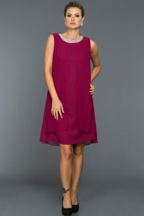 Short Fuchsia Evening Dress ABK031