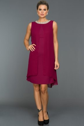 Short Plum Evening Dress AB98686