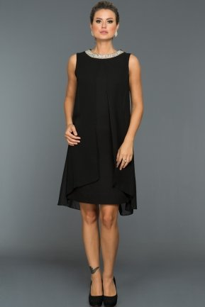 Short Black Evening Dress ABK031