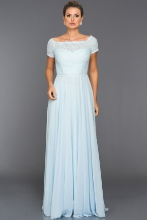 Long Light Blue Evening Dress T3071