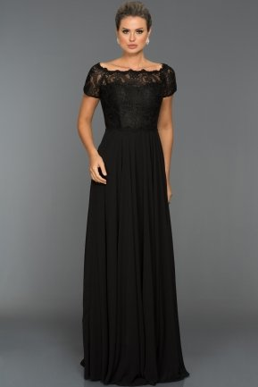 Long Black Evening Dress T3071