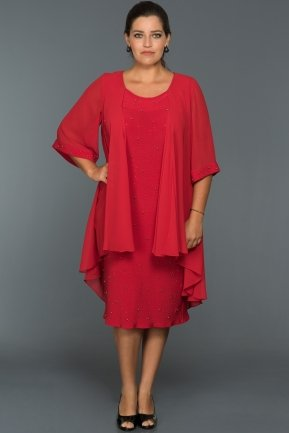 Red Oversized Evening Dress C9000