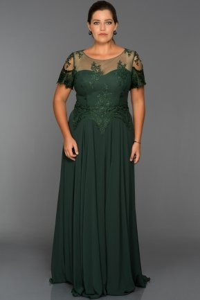 Long Emerald Green Oversized Evening Dress AN5010