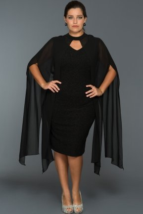 Short Black Plus Size Dress ABK013