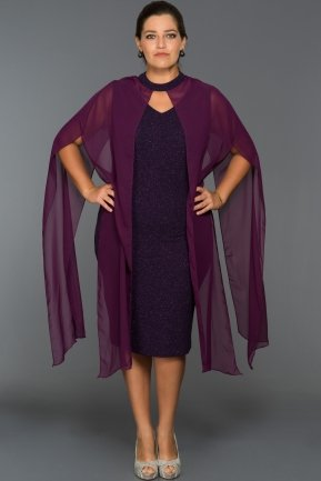 Short Violet Plus Size Dress ABK013