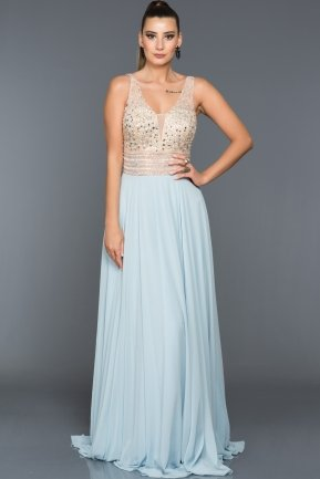 Long Blue Evening Dress ABU093
