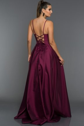 Long Plum Evening Dress GG6950