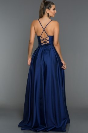 Long Sax Blue Evening Dress GG6950