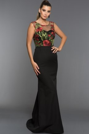 Long Red Green Evening Dress C7324